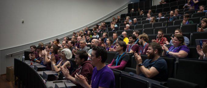 De WordPress community, hier op een WordCamp.